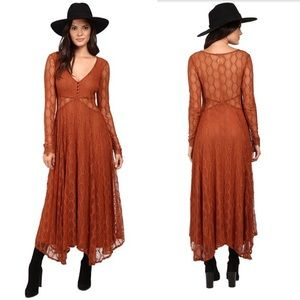 Free People S Guinevere Lace Maxi Dress Orange